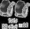 Caster Kit Swivel/Brakes -- AC4M6SV - Image
