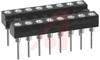 Socket, DIP;16Pins;Open;Long Solder Tail;0.3In.;Beryllium Copper;Gold;PCB;0.17In -- 70206562 - Image