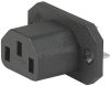 IEC Appliance Outlet F, Screw-on Mounting, Front Side, Solder Terminal -- 4787 -- View Larger Image