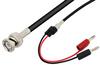 BNC Male to Banana Plug Cable 36 Inch Length Using RG58 Coax -- PE33552-36 -Image