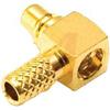 Connector; MMCX 50 Ohm; R/A Crimp Plug;Brass; Gold; 6 GHz;RG-174/U,188AU;316U -- 70209878