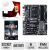AMD FX-6100 3.30 GHz Six Core AM3+ Unlocked CPU and GIGABYTE -- FD6100WMGUSBX Bundle