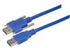USB 3.0 Cable, Type A/A with Thumbscrew Hardware 1.0M -- MUS3A00019-1M -Image
