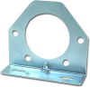 Pollak 11-771E Trailer Connector Bracket, Silver, Use with 7-Way Sockets -- 35601 -Image