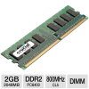 Crucial 2048MB PC6400 DDR2 800MHz Memory -- CT25664AA800