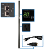 1.9kW Single-Phase Monitored PDU with LX Platform Interface, 120V Outlets (24 5-15/20R), 0U Vertical, 70 in., TAA -- PDUMNV20LX