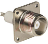 connector,rf coaxial,hn panel receptacle,4-hole flange,solder cup terminal -- 70142842