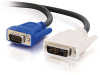 2m DVI Male to HD15 VGA Male Video Cable (6.5ft) -- 2104-26954-006