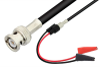 BNC Male to Mini Alligator Clip Cable 24 Inch Length Using 75 Ohm RG59 Coax -- PE33548-24 -Image