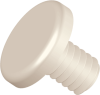 0.690 Small Unslotted Screw, Nylon, Natural -- APSU205690