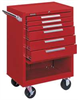 Rolling Cabinet,27 x 18 x 39 In,Red -- 33M650