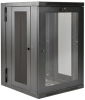 SmartRack 18U UPS-Depth Wall-Mount Rack Enclosure Cabinet with Clear Acrylic Window, Hinged Back -- SRW18USDPG -- View Larger Image
