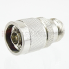 50 Ohm N Male (Plug) to 75 Ohm N Female (Jack) Adapter,Nickle Plated Brass Body -- SM4020 - Image