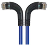Category 6 Right Angle RJ45 Ethernet Patch Cords - RA (Left) to RA (Right) - Blue, 1.0Ft -- TRD695RA8BL-1 -Image