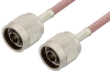 N Male to N Male Cable 6 Inch Length Using RG142 Coax, RoHS -- PE3455LF-6 -Image