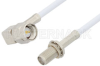 SMA Male Right Angle to SMA Female Bulkhead Cable 72 Inch Length Using RG188-DS Coax, RoHS -- PE34179LF-72 -Image