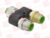 LEUZE CB-M12-ACY8/1 ( DISTRIBUTION BOX, NUMBER OF CONNECTIONS: 3 PIECE(S); CONNECTION 1: CONNECTOR, M12, AXIAL, MALE, A-CODED, 8 -PIN; CONNECTION 2: CONNECTOR, M12, AXIAL, MALE, A-CODED, 8 -PIN; CO... -Image