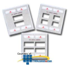 Siemon Double Gang Stainless Steel Faceplate for MAX.. -- MX-FP-D-06-SS-L