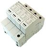 AC Surge Protector SPD I2R-T112 DIN-Rail 230 Vac 3-Phase Wye MOV 50 kA, IEC 61643-11 Class I+II, CE, RoHS -- I2R-T112-4P230 -Image