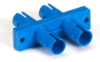 Fiber Optic Coupling, ST-ST, Rectangular Mounting, Single-Mode, Duplex, Ceramic Sleeve, Plastic Flange -- FOT111
