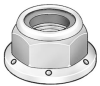 Flange Locknut,Stl,10-32,PK100 -- 4CAN9
