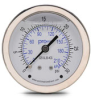 0-30 psi Liquid filled Pressure Gauge with 2.5 inch mechanical dial -- G25-SL30-4CS