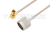 N Male to SSMC Plug Right Angle Cable 72 Inch Length Using RG316 Coax -- PE3C4416-72 -- View Larger Image