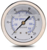 0-100 psi Liquid filled Pressure Gauge with 2.5 inch mechanical dial -- G25-SL100-4CB - Image