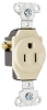Pass & Seymour® -- Commercial Grade Short Strap Single Receptacle - 5258 - Image