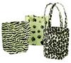 Animal Print Cotton Mini Totes -- 49645