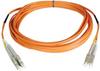 Duplex Multimode 50/125 Fiber Patch Cable (LC/LC), 3M (10-ft.) -- N520-03M