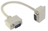 Deluxe Molded D-Sub Cable, DB9 Male / Right Angle Exit 4 Male, 1.0 ft -- CSMNRA9-4MM-1 -Image