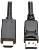 DisplayPort 1.2 to HDMI Active Adapter Cable, DP with Latches to HDMI (M/M), UHD 4K x 2K/1080p, 3 ft. -- P582-003-V2-ACT - Image