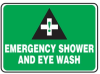 Emergency Shower And Eye Wash Sign -- SGN1019 -Image