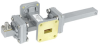20 dB WR-51 Waveguide Crossguide Coupler with Square Cover Flange and SMA Female Coupled Port from 15 GHz to 22 GHz in Bronze -- FMWCT1052 -Image