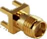 Gold SMA Female Through-hole Mount Connector -- CONSMA001-G - Image