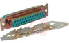 connector,d-subminiature,crimp and pokereceptacle,contacts included,25 position -- 70039640