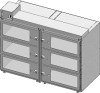 Standard Welded Stainless Steel 6 Door Double Tier Desiccator (a.k.a. Desiccator Cabinet, Dry Box, Dry Storage Cabinet, or Low-Humidity Storage Cabinet) -- CAP19S-SST-6DR-DBL-30Wx18Hx30D-3B