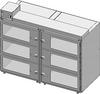 Desiccator Cabinet -- CAP19S-SST-6DR-DBL-18Wx10Hx18D-3B - Image