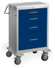 4 Drawer Tall Steel Anesthesia Cart -- UTGKU-46612-DKB