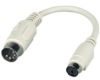 Keyboard Adapter, 5-Pin DIN Male to 6-Pin Mini DIN Female with 6