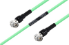Temperature Conditioned TNC Male Right Angle to TNC Male Right Angle Low Loss Cable 18 Inch Length Using PE-P300LL Coax -- PE3M0243-18 -Image
