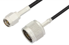SMA Male to N Male Cable 72 Inch Length Using RG174 Coax, RoHS -- PE3291LF-72 -Image