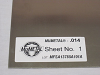 Magnetic Shielding Stress Annealed Sheet - MuMETAL® -- MU025-12-15 -Image