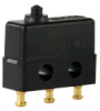 MICRO SWITCH SX Series Subminiature Basic Switch, Single Pole Double Throw (SPDT), 28 Vdc, 2 A, Pin Plunger Actuator, Solder Termination, Military Part Number M8805/106-01 -- 411SX21-T -Image