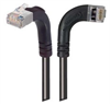 Category 6 Shielded LSZH Right Angle Patch Cable, Right Angle Right/Right Angle Up, Gray, 7.0 ft -- TRD695SZRA12GRY-7 -Image