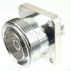 4 Hole Flange N Female (Jack) to 7/16 DIN Female (Jack) Adapter, Silver Plated Brass Body, 1.2 VSWR -- SM4672 - Image