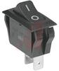 Switch, Rocker, Power, SPST, On-Off, Black, O/- Imprinted, Black Bezel -- 70207347 - Image