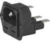 Module, Power Entry; 10 A; 250 VAC; Black (Housing); Thermoplastic (Housing) -- 70080644