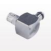 Coupling Insert, Straight Thru, Chrome-Plated Brass, Elbow Ferruleless Polytube Fitting -- MC2104 -Image